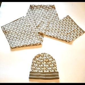 Michael Kors Scarf and Hat Winter Snow Cold Set